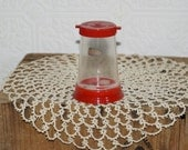 Rare vintage Styron  plastic salt pepper shaker dispenser