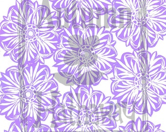 INSTANT DOWNLOAD clip art & Digital Paper Designed From a Hand Carved Stamp Lavender / All artwork is Copyright © Autumn Hathaway 8.5x11