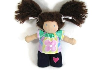 10 inch Waldorf doll outfit,flower power doll shirt and your choice of pants, doll shirt and cords or jeans