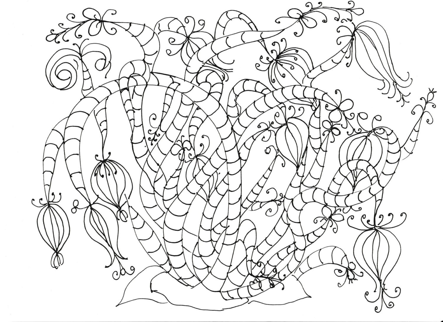 adult coloring pages flowers plants garden - Adult Coloring Pages Flowers