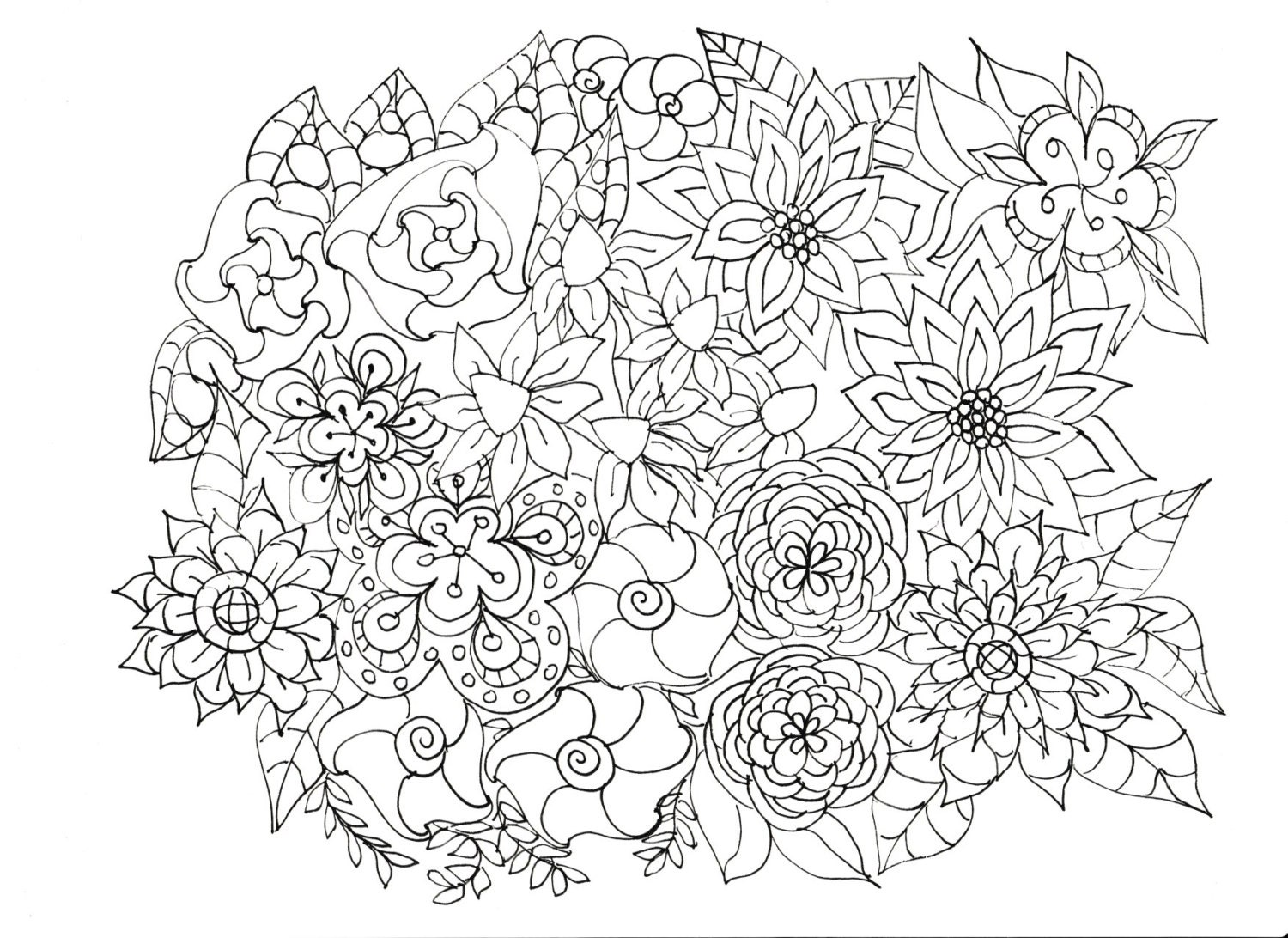 Adult Coloring Pages Flowers Adult Coloring Pages Flowers Plants Garden