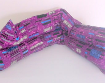 Violet Graphic Rice Lavender Pack, Microwaveable Lavender Scented Hot Pack, Hot Cold Pack, Cotton Rice Pack
