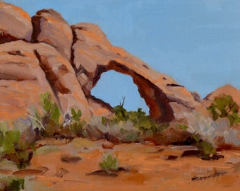 Erosion an oil painting by Pattie Wall