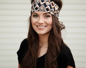 Brown Headband, Womens Brown Headband, Funky Headbands, Patterned Headbands, Printed Headbands, Womans Head Bands, Wide Hairbands Hair Bands