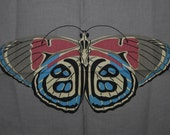 Wayne Davies San Francisco fabric BUTTERFLY MOTH panel