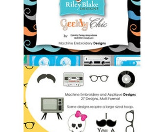 Geek Chic Embroidery Designs - From Riley Blake - Machine CD - 29.95 Dollars