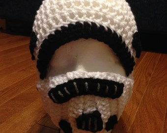 Star Wars Storm Trooper Helmet with removeable face shield  Storm Trooper Beanie Star Wars Beanie Storm Trooper Costume Star Wars Costum