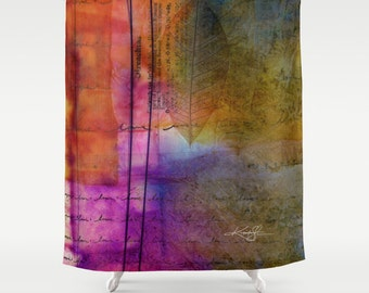 Peace shower curtain etsy for Spiritual shower