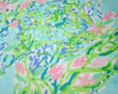 Lilly Pulitzer~ Dobby Cotton Fabric~ SKY BLUE HEAVEN~2015