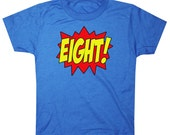 Youth SUPERHERO Eighth Birthday T-shirt - Royal Blue