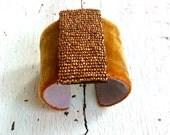 Bronze Silk Velvet Adjustable Cuff