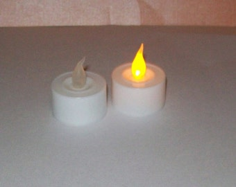 Battery-Operated Tea Lights for use in Luminaries - Lanterns - Luminaria