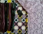DIY Fabric and notions Mauve & Mustard Blocks for 1 BRA and BRIEF by Merckwaerdigh