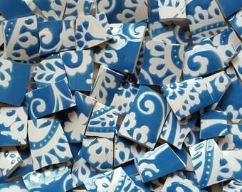 Mosaics Tiles-Paisley Blue- 100 Tiles- Sale