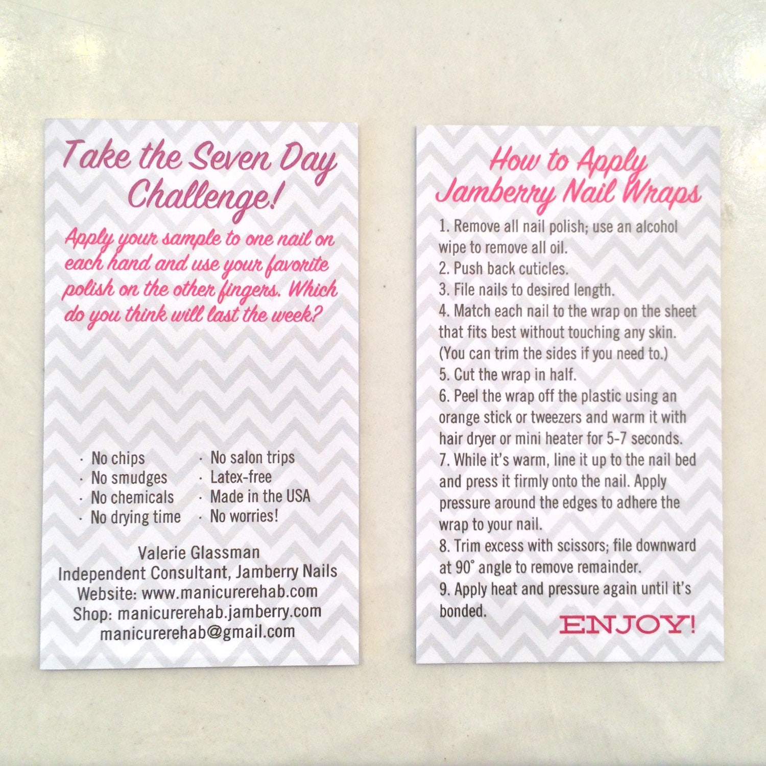 7 day challenge jamberry template related keywords 7 day for Jamberry sample card template