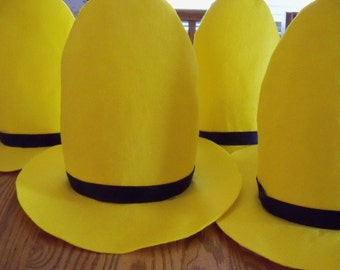 One Man in the Yellow Hat Hat - NOW in 2 sizes, for children and adults
