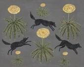 Dandelion Dogs - Print