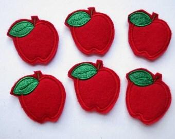 Apple Felt Embroidered Felt Appliques - Feltie - Apple Feltie - 244