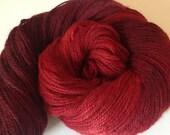 Vamp hand dyed and spun merino possum silk firestar sock weight 4 ply sock weight 3.35 ozs  312 yards