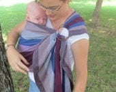 Lenny Lamb Ring sling Wrap Conversion Baby Carrier - WCRS - Norwegian Diamond -Pleated Shoulder - DVD included - baby shower gift