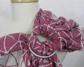 SALE - Ring Sling, Baby Sling, Tekhni WCRS Wrap Conversion Ring Sling - Delta Raspberry - Gathered Shoulder - DVD included Repreve blend