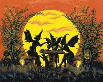 "Halloween fairy's   ""Reading the tea leaves..."""