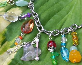 Upcycled Charm Bracelet