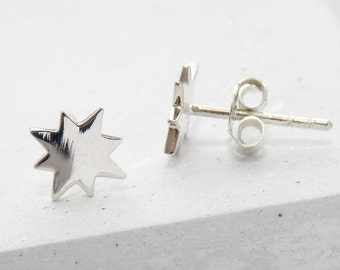 Stud Earrings | North Star Studs, Stud Earrings, Tiny Studs, Post Earrings, Small Stud Earrings, Post Earring, Boho Jewelry, Boho Earrings