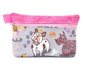 Essential Oil Bag holds 5 10ml oils Essential oil pouch dogs print