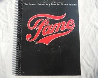 """Soundtrack of """"Fame"""" Original Record Album Cover Notebook"""