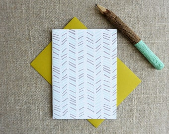 Letterpress Greeting Card - Everyday Notecard - Chevron Illustration Pattern - EGP-187
