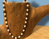 Premium Handknotted Freshwater Pearl and Garnet Necklace