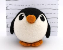 Needle Felted Penguin Roly Poly Penguin