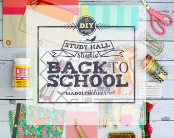 """Online Art Class """"Study Hall Studio {back to school DIY}"""