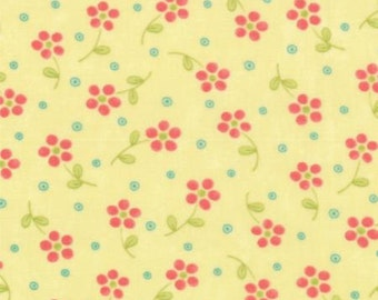 SALE Chance of Flowers fabric by Sandy Gervais for Moda Fabrics- Chance of Flowers Mini Flower in Sun, 1 yard or by the yard