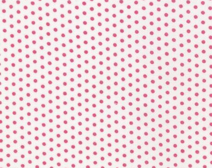Sealed With a Kiss fabric by Robert Kaufman and Fabric Shoppe - Spot On Mini Dot in Strawberry- You Choose the Cut, Free Shipping Available