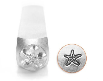 Design Stamp - Starfish - 6mm stamped image by ImpressArt -  includes How to Stamp Metal tutorial