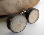 Rustic Magnolia Twig Wooden Cuff Links No 2 by Tanja Sova