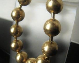 Gold Ball Chain 6mm Brass Ball Chain Item No. 9129/6mm