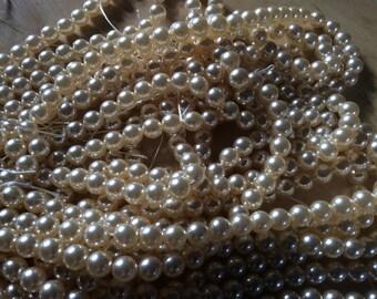SALE Cream rose Swarovski crystal pearls 10mm (50)
