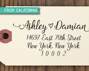 Large Custom ADDRESS STAMP with proof from USA, Custom Stamp, Eco Friendly Self Inking Stam, rsvp stamp, Housewarming Gift, Address Stamp211