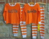 Halloween Pajamas - Halloween Pjs - Personalized Pajamas - Personalized Kids Pajamas - Monogram Halloween Pajamas - Julianne Originals