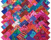 "Kaffe Fassett Collective BOLD BRIGHT Precut 5"" Fabric Quilting Cotton Squares Westminster Fibers"