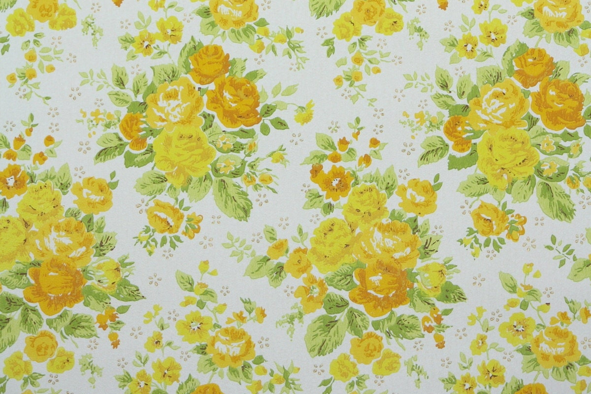 1960s vintage wallpaper by the yard retro floral wallpaper