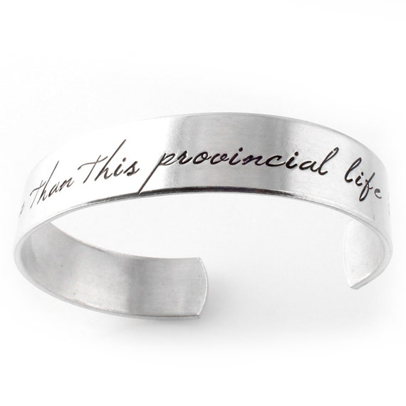 Beauty and the Beast Bracelet - I want much more than this provincial life - Belle Cuff Bracelet