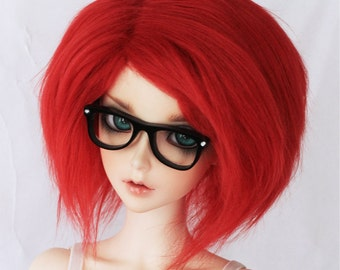 BJD Doll fur wig SD Red wig Monstrodesigns