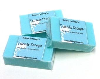 CLEARANCE Seaside Escape Mini GUEST BAR Soap - Handmade Goats Milk Soap Bars