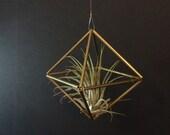 Med. Geometric Himmeli Hanger - square - brass