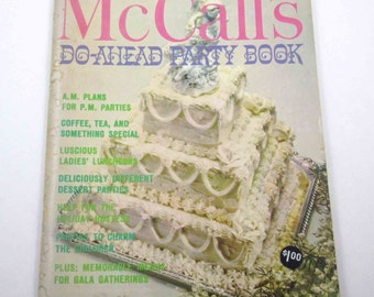 McCall's Do Ahead Party Book Vintage 1960s Cook Book