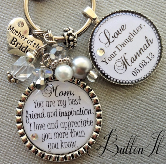 Gift For My Bride On Wedding Day: MOTHER Of The BRIDE Gift PERSONALIZED Keychain Best Friend